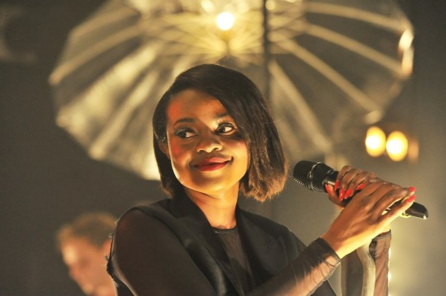 Keisha Buchanan joined her fellow original Sugababes on stage (Picture:Xposurephotos.com)