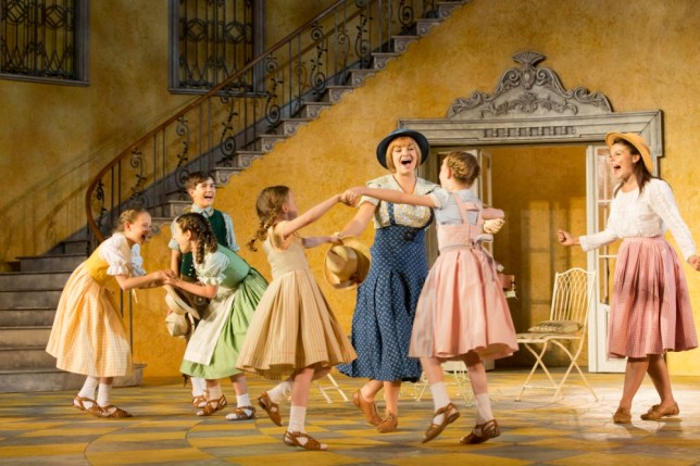 The Von Trapp children sing with Maria in The Sound of Music (Picture: Johan Persson)