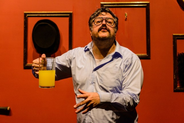 Tour de Force: Rob Crouch in Oliver Reed Wild Thing (Picutre: Annabel Staff)