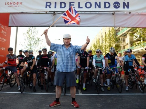 London pride at 100-mile RideLondon: Thousands of cyclists including Boris Johnson join finale of city's new bike festival