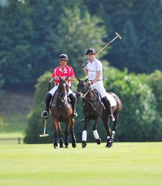 3 Aug 2013 - LONDON  - UK NEW DAD PRINCE WILLIAM THE DUKE OF CAMBRIDGE JOINS HIS BROTHER PRINCE HARRY IN A GAME OF POLO DURING THE AUDI POLO CUP CHALLENGE! BYLINE MUST READ : SUPPLIED BY XPOSUREPHOTOS.COM XPOSURE PHOTOS DOES NOT CLAIM ANY COPYRIGHT OR LICENSE IN THE ATTACHED MATERIAL. ANY DOWNLOADING FEES CHARGED BY XPOSURE ARE FOR XPOSURE'S SERVICES ONLY, AND DO NOT, NOR ARE THEY INTENDED TO, CONVEY TO THE USER ANY COPYRIGHT OR LICENSE IN THE MATERIAL. BY PUBLISHING THIS MATERIAL , THE USER EXPRESSLY AGREES TO INDEMNIFY AND TO HOLD XPOSURE HARMLESS FROM ANY CLAIMS, DEMANDS, OR CAUSES OF ACTION ARISING OUT OF OR CONNECTED IN ANY WAY WITH USER'S PUBLICATION  *UK CLIENTS MUST CALL PRIOR TO TV OR ONLINE USAGE PLEASE TELEPHONE  44 208 370 0291