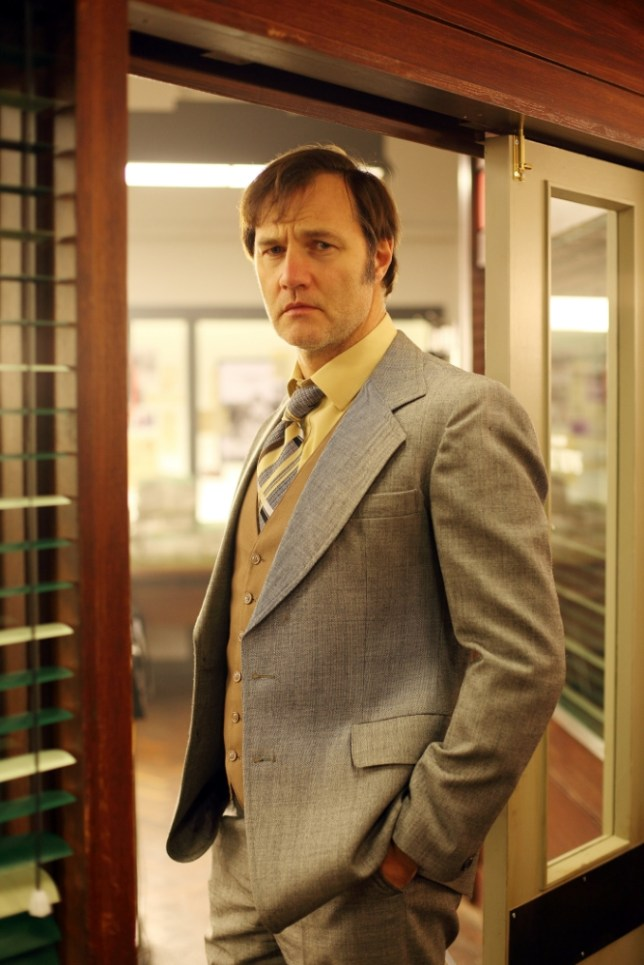 David Morrissey took us back to the 1980s in Field of Blood (Picture: BBC Scotland)
