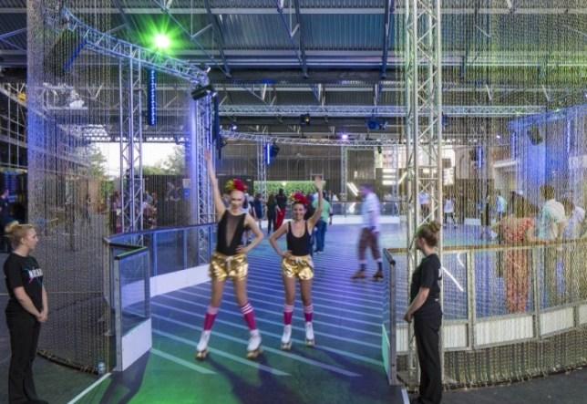 Roller disco, King's Cross