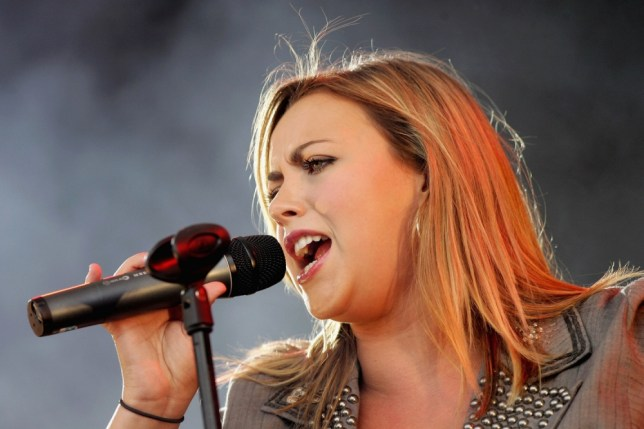ASCOT, UNITED KINGDOM - AUGUST 12:  Singer Charlotte Church performs after The Dubai Duty Free Shergar Cup, on August 12, 2006 at Ascot, England.  (Photo by Gareth Cattermole/Getty Images)