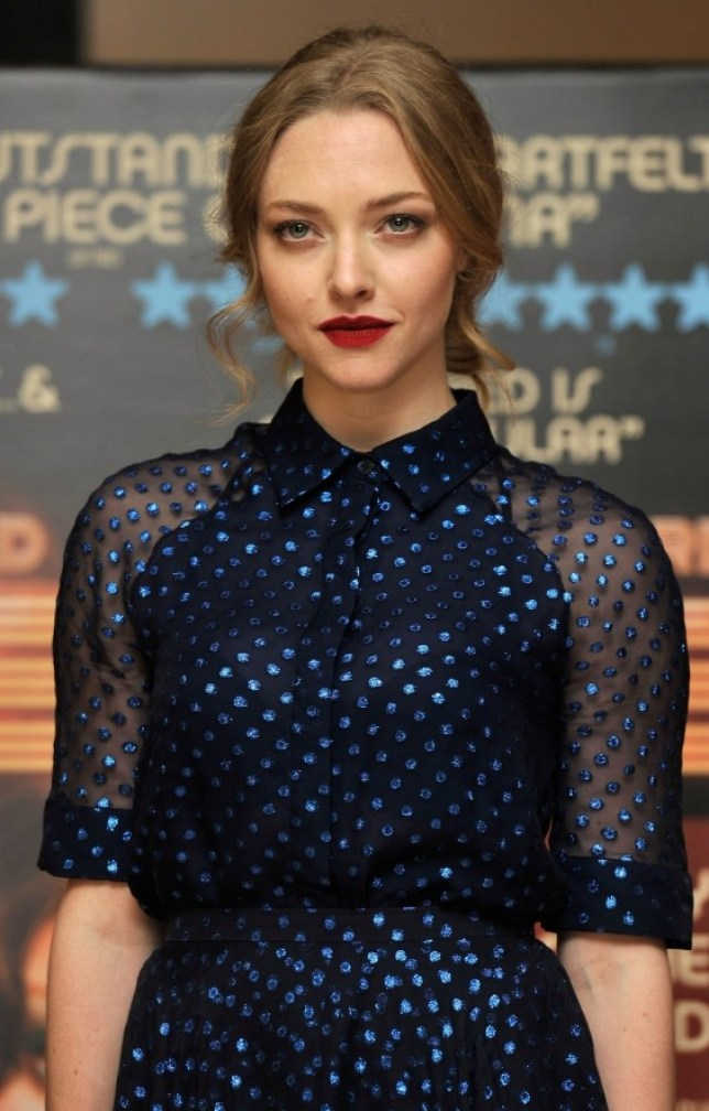 LONDON, ENGLAND - AUGUST 12:  Amanda Seyfried attends the special screening of 'Lovelace' at The Mayfair Hotel on August 12, 2013 in London, England.  (Photo by Gareth Cattermole/Getty Images)
