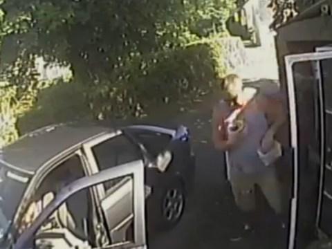 Thief caught on CCTV stealing gardener's honesty box