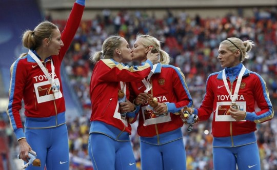 Russia kiss, podium