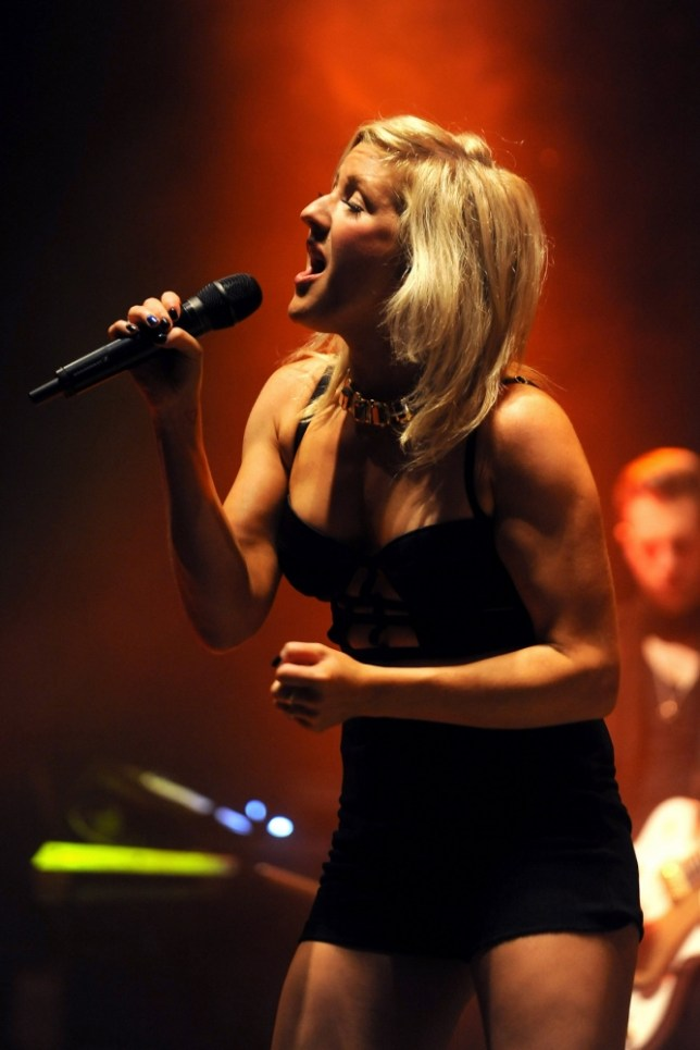 Ellie Goulding performs on the Arena stage during day one of the V Festival at Weston Park in Weston-under-Lizard. PRESS ASSOCIATION Photo. Picture date: Saturday August 17, 2013. Photo credit should read: Joe Giddens/PA Wire