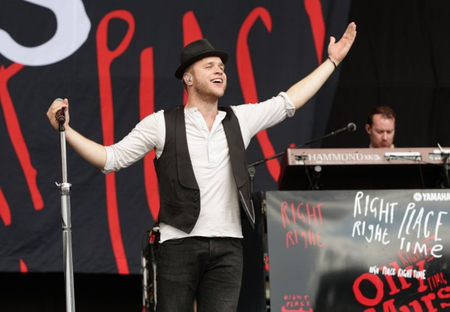 Olly Murs performing on the Virgin Media Stage during day two of the V Festival at Hylands Park in Chelmsford. (Picture: PA)