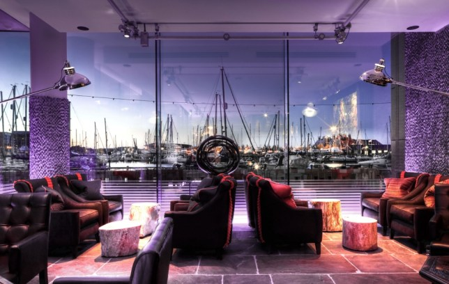 The glass-fronted bar at The Salthouse Harbour Hotel has great views over the River Orwell (Picture: supplied)