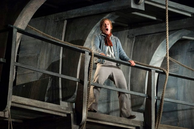 Jacques Imbrailo as Billy Budd in the Benjamin Britten opera (Picture: Richard Hubert Smith)