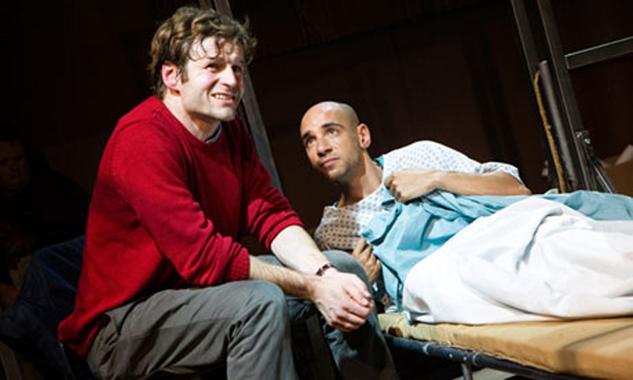 Will Adamsdale (left) and Fraser Ayres make an unlikely friendship in Stuart: A Life Backwards (Picture: Murdo Macleod)