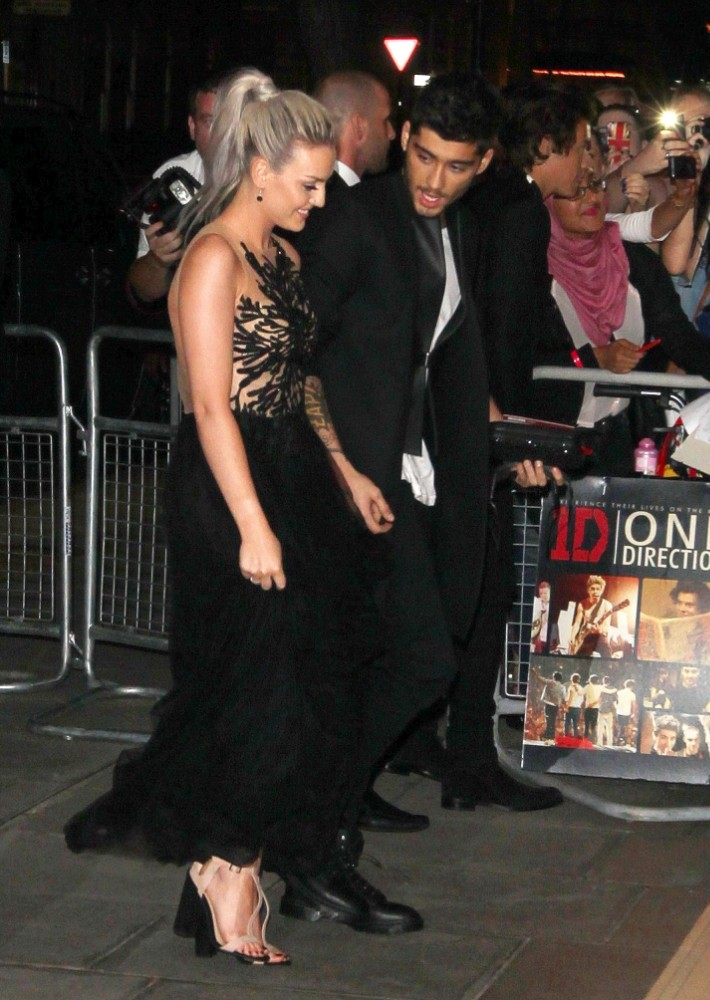 Mandatory Credit: Photo by REX/Beretta/Sims (2848930aa)  Perrie Edwards and Zayn Malik  'One Direction: This Is Us' film premiere, London, Britain - 20 Aug 2013  After Party