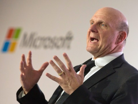 Outgoing Microsoft chief executive Steve Ballmer has the time of his life in farewell speech