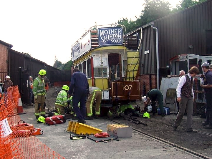 Woman dragged under vintage tram as horse bolts at transport festival