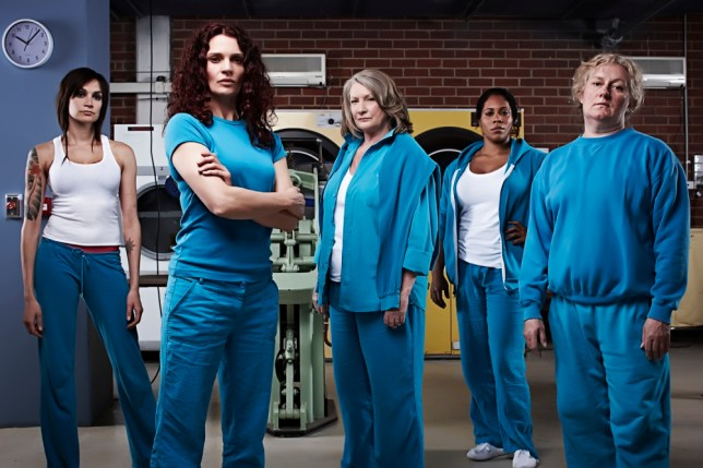 Mighty of thigh, sensible of shoe and with screwed-up hair - it's Wentworth Prison (Picture: Channel 5)