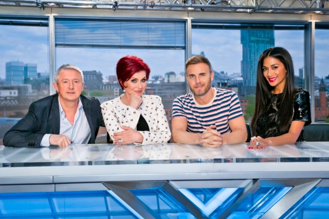 A Thames / Syco co-ProductionnnUNDER STRICT EMBARGO 00.01 ON TUESDAY 27 AUGUST 2013nX FACTORnnPicture Shows : LOUIS WALSH, SHARON OSBOURNE, GARY BARLOW and NICOLE SCHERZINGER nnRock royalty Sharon Osbourne makes a triumphant return to the show, joining Take That superstar Gary Barlow, US pop star Nichole Scherzinger and Svengali manager Louis Walsh in the search for the nation's next big singing sensation.nAward-winning broadcaster and presenter Dermot O'Leary will preside over the action-once more offering support, encouragement and a shoulder to cry on to aspiring starts, as well as the important job of keeping the judges in check.nAnd, in the first of an exciting range of the new changes for the 10th series of The X Factor, hopefuls will - for the first time ever - have to tackle two sets of auditions. First, they will face the judges eyeball in an intimate audition room. If they receive three or more yes votes here, they will then have to preform for the judges once more - this time in the arena - to prove they can also impress an audience before securing a coveted place at the next stage in the competition.nnnnn