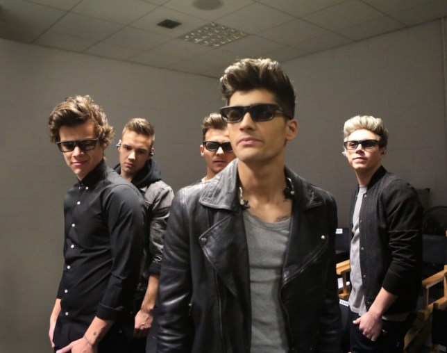 'Mysterious one' Zayn Malik, centre, and the rest of 1D open up to Morgan Spurlock for his documentary (Picture: TriStar Pictures)