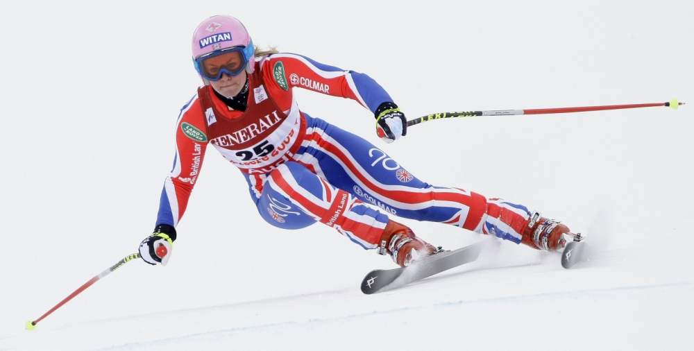 Skier Chemmy Alcott has overcome a crash that almost ended her career (Picture: Reuters)   REUTERS/Dominic Ebenbichler (FRANCE)