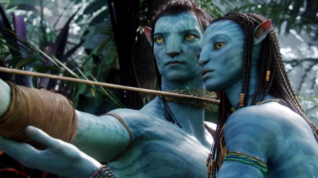 """FILM: Avatar (2009). DVD.  FILE - In this undated file film publicity image originally released by 20th Century Fox, the character Neytiri, voiced by Zoe Saldana, right, and the character Jake, voiced by Sam Worthington are shown in a scene from, """"Avatar."""" Twentieth Century Fox on Sunday, April 25, 2010 announced that James Cameron's sci-fi epic has sold 2.7 million Blu-rays and 4 million DVDs since April 22. (AP Photo/20th Century Fox, File)"""