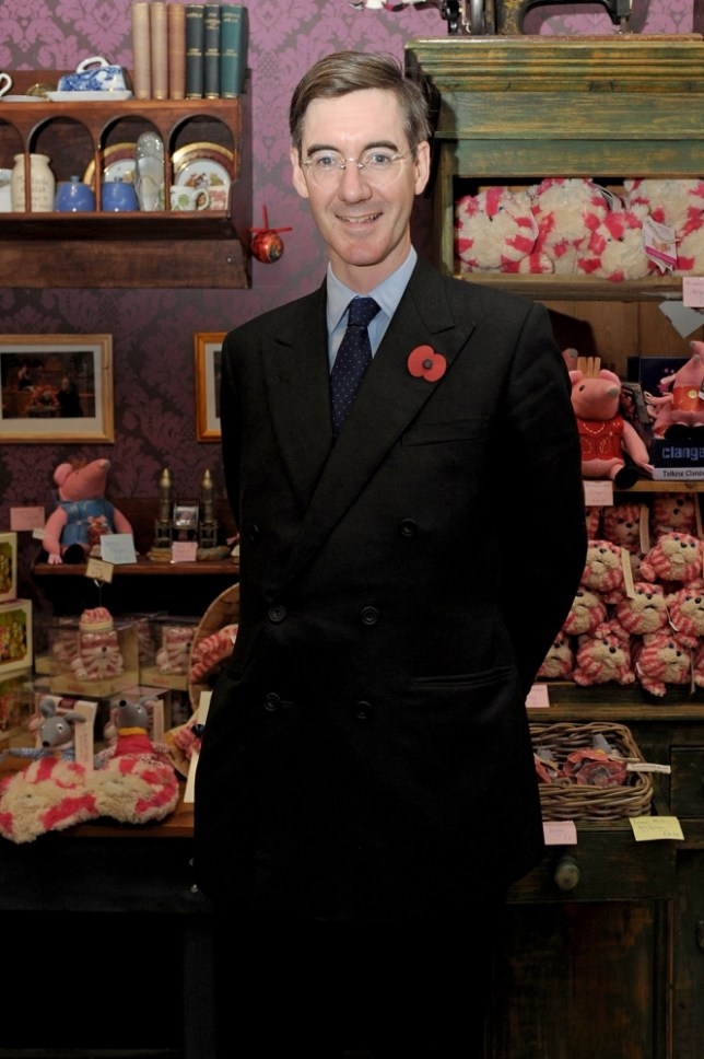 Conservative MP Jacob Rees-Mogg visits the new Bagpuss Pop-up Shop at Whitelys Shopping Centre on November 3, 2011 in London, England.  (Photo by Ben Pruchnie/Getty Images)