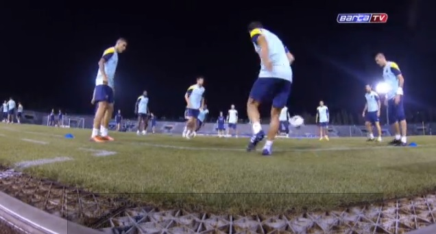 Barcelona look at ease playing quick, one-touch football (Picture: YouTube)