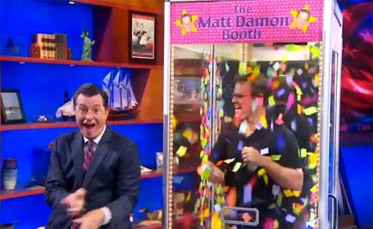 Matt Damon on Colbert Report