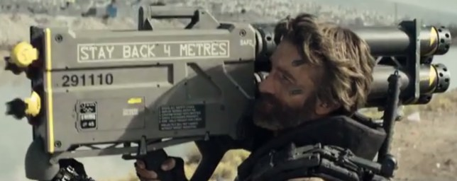 Kruger (Sharlto Copley) gets ready to fire (Picture: Sony Pictures)