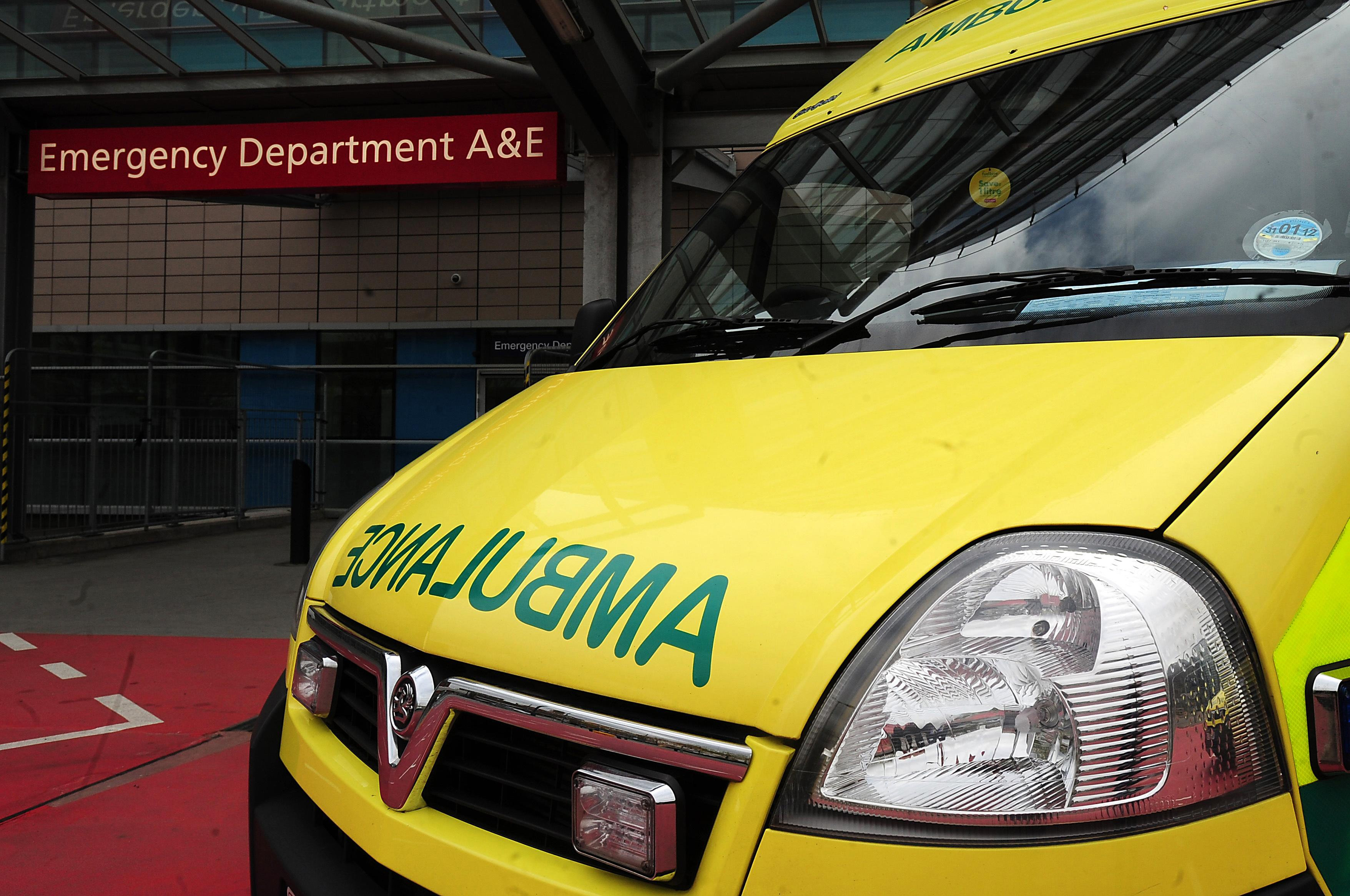 The ambulance was on its way to Royal Bolton Hospital when a wheel fell off. The paramedic prevented the vehicle from rolling over (Picture: PA)