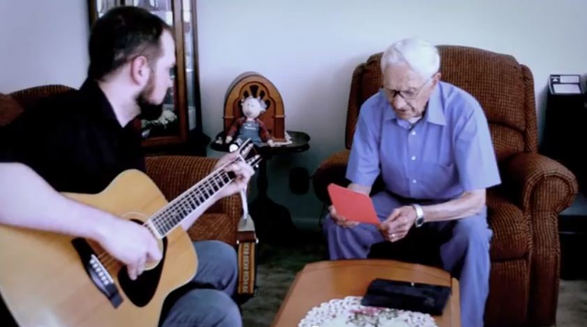 Man, 96, enters song-writing contest in tribute to wife with whom he spent 75 years
