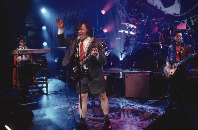 FILM ' The School Of Rock ' (2004)             Starring: Jack Black (Dewey Finn)