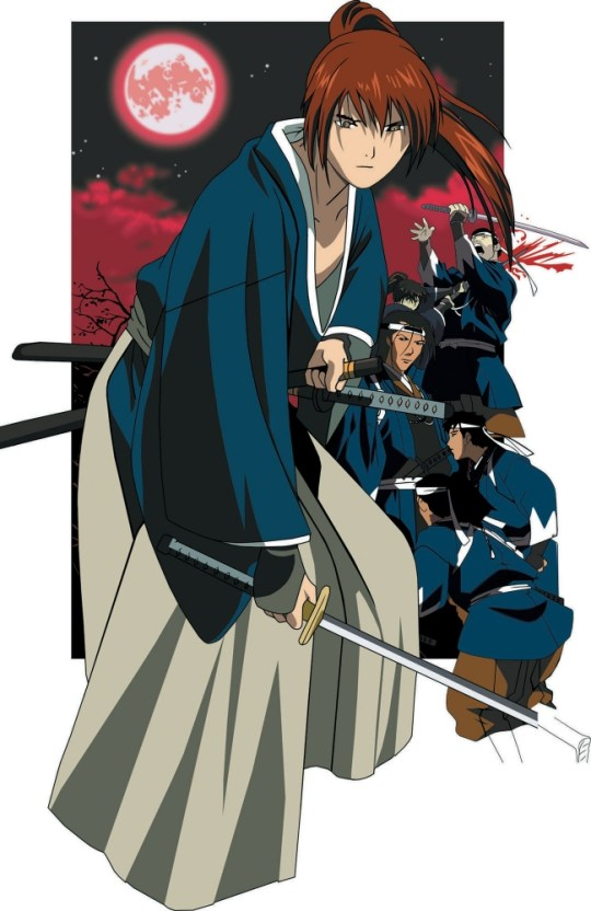 """In this illustration distributed in Tokyo Tuesday, Dec. 7, 2004 by A.D. Vision Inc., a Houston, Texas-based distributor of Japanese """"manga"""" comics and animation, the main character of """"Samurai X"""" Kenshin is shown. Kenshin is hired as an assissin at age 15 after being trained in the fictional sword style during a revolution right before the Meiji Era in Japan. """"Samurai X"""" is presented by author Nobuhiro Watsuki. (AP Photo/A.D. Vision Inc., HO) **CREDIT MANDATORY, NO SALES**"""