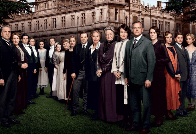 ITV has released the first full cast shot without Dan Stevens as Matthew Crawley ahead of the new series (Picture: ITV/Carnival)