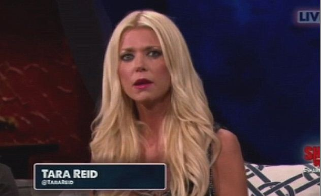 Tara Reid appeared on the Discovery Channel's Shark After Dark (Picture: Discovery Channel)