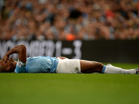 Vincent Kompany could be ruled out of Manchester City's derby showdown