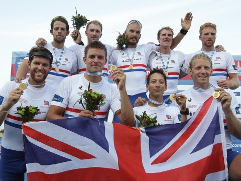 Britain's men's eight win gold at World Championships