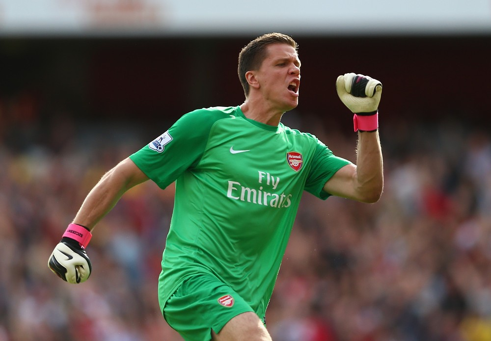 Wojciech Szczesny couldn't resist a little dig at Tottenham (Picture: Getty Images)