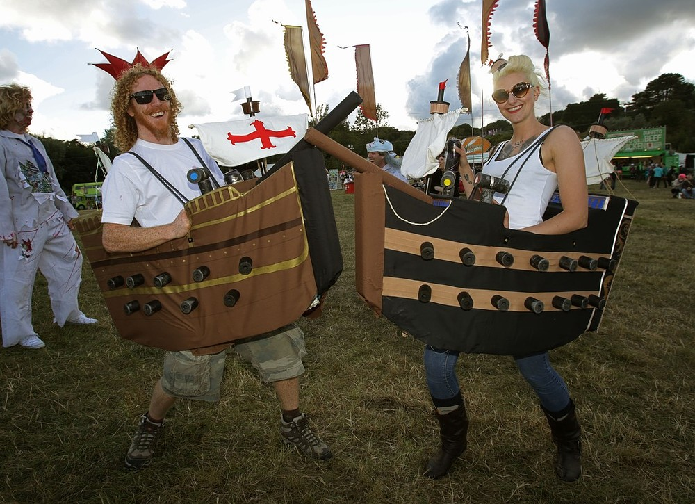 Bestival 2013: The HMS Bestival parade sets sail as 10th birthday celebrations get underway