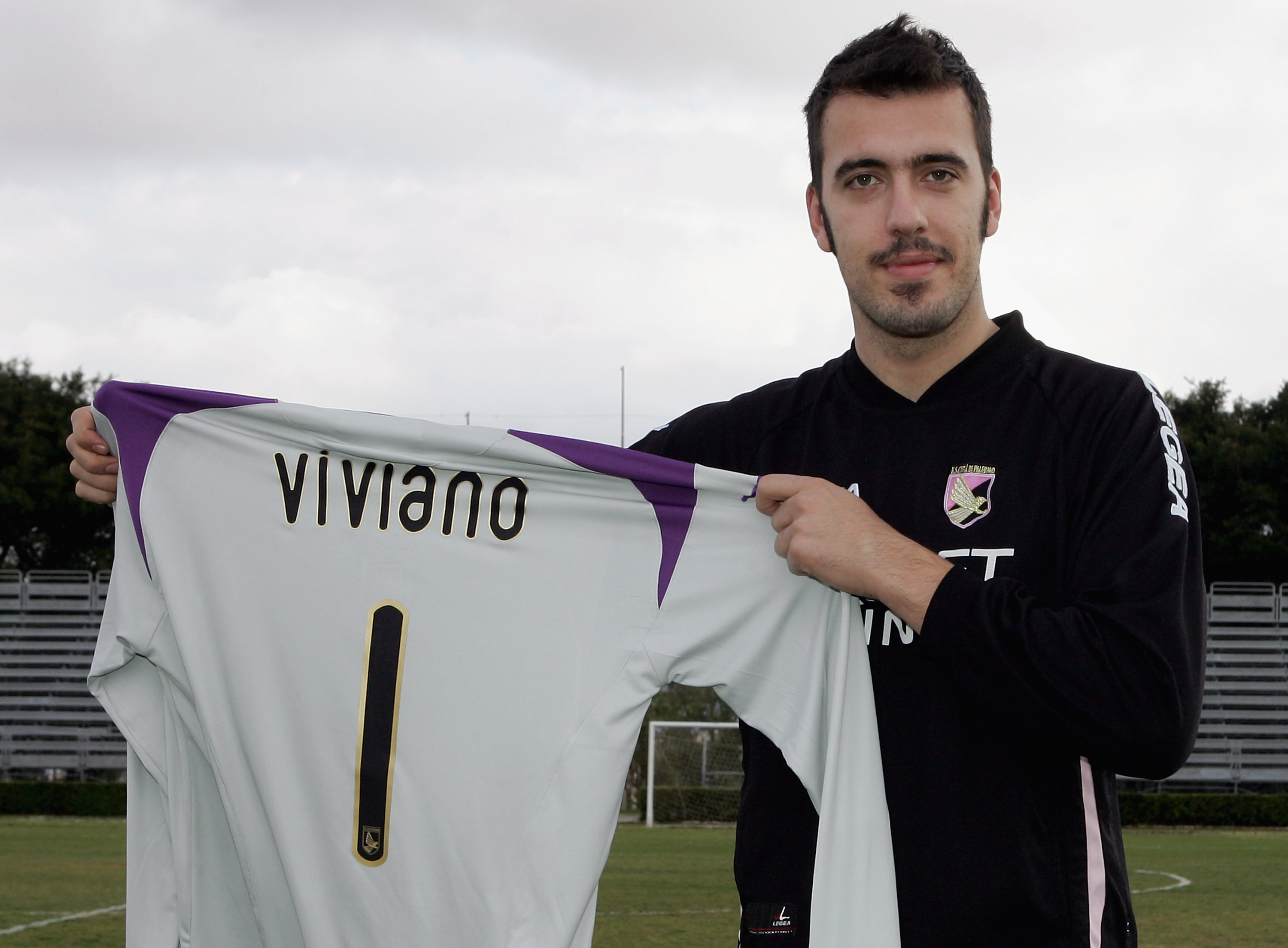 Jersey boy: Viviano when he was unveiled by Palermo last January (Picture: Getty)