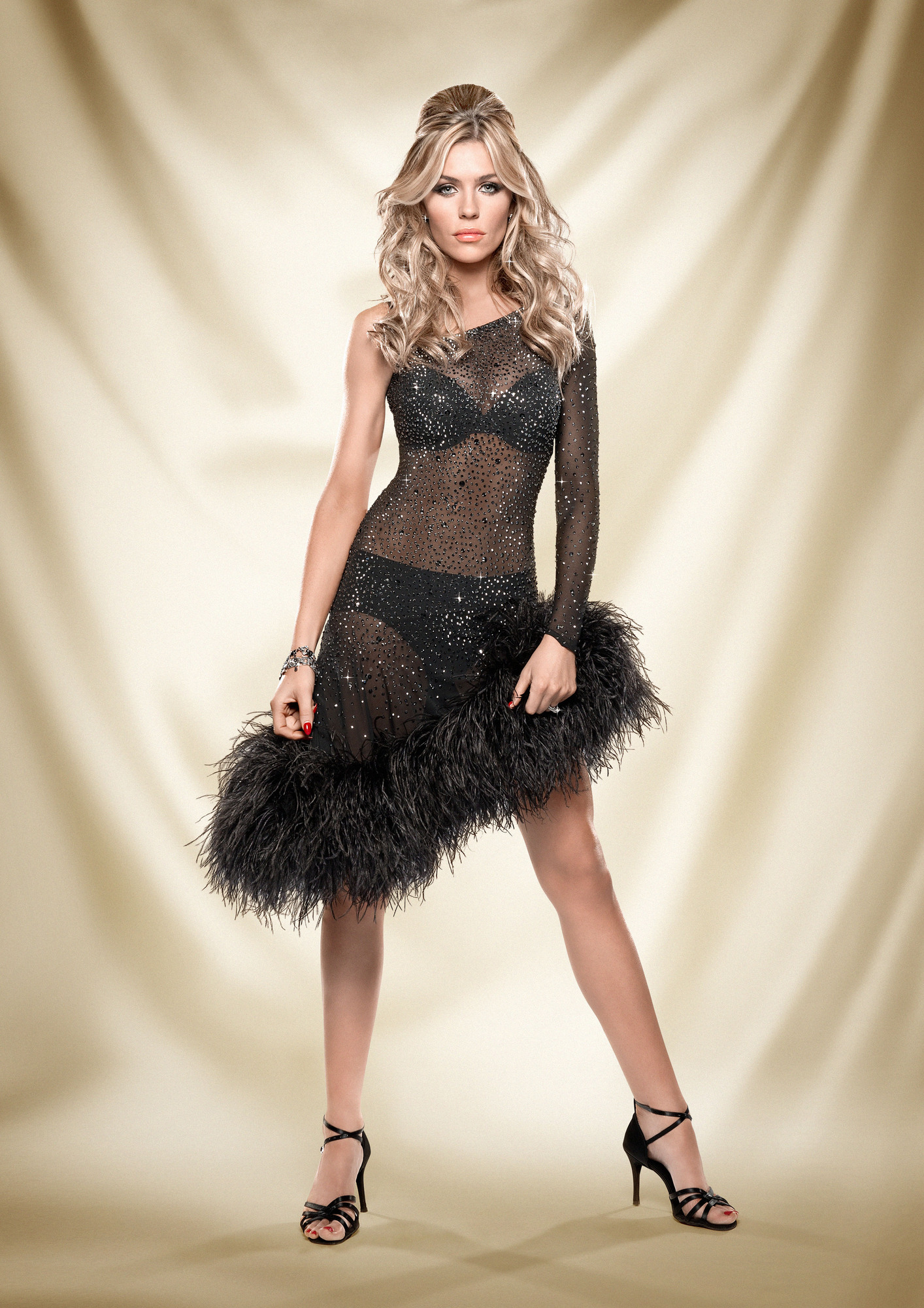 Stamina Come Dancing: Abbey Clancy hopes appearing on Strictly will boost her energy levels (Picture: BBC)