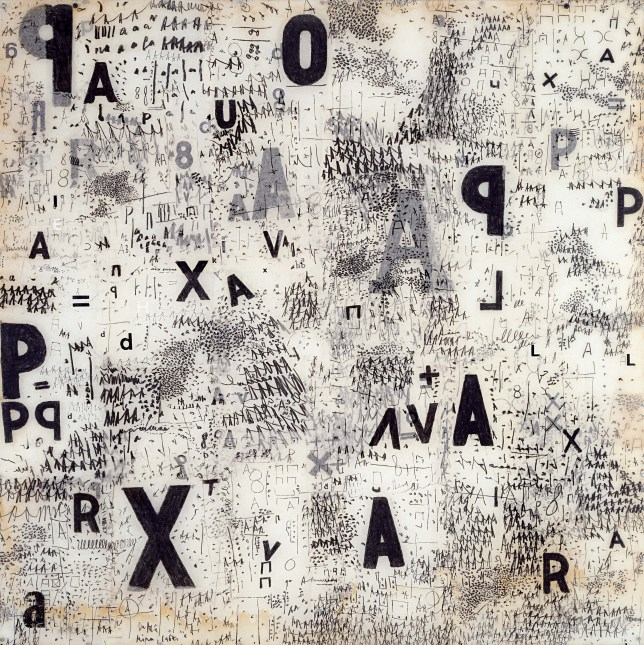 Mira Schendel's Graphic Object, 1967 (Picture: Mira Schendel Estate)