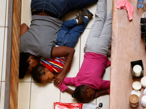Footage emerges of woman and children's escape from Nairobi siege after 'playing dead' on mall floor