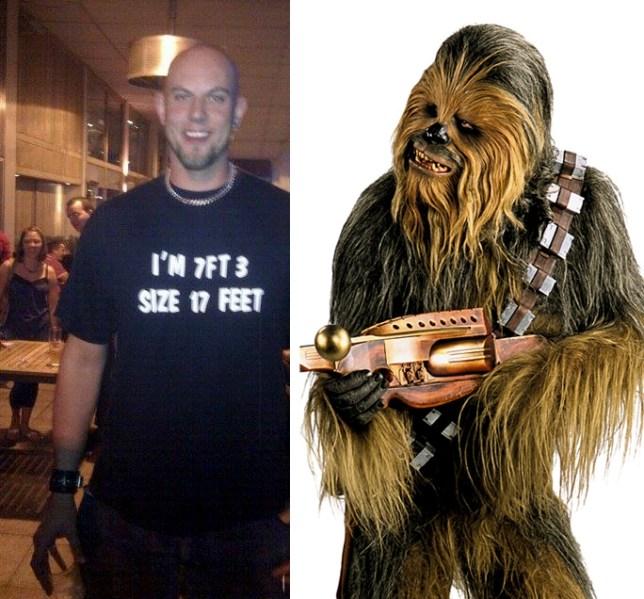 The new Chewbacca? Jonathan Mathers