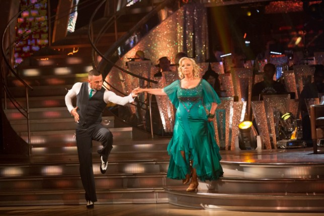 Embargoed to 2030 Saturday September 28. For use in UK, Ireland or Benelux countries only. BBC handout photo of Robin Windsor and Deborah Meaden performing during rehearsals for the BBC programme Stictly Come Dancing. PRESS ASSOCIATION Photo. Issue date: Saturday September 28, 2013. See PA story SHOWBIZ Strictly. Photo credit should read: Guy Levy/BBC/PA Wire NOTE TO EDITORS: Not for use more than 21 days after issue. You may use this picture without charge only for the purpose of publicising or reporting on current BBC programming, personnel or other BBC output or activity within 21 days of issue. Any use after that time MUST be cleared through BBC Picture Publicity. Please credit the image to the BBC and any named photographer or independent programme maker, as described in the caption.