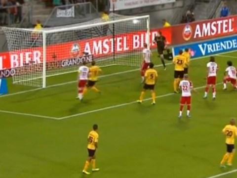Roda JC goalkeeper scores horrific headed own goal in Dutch League – video