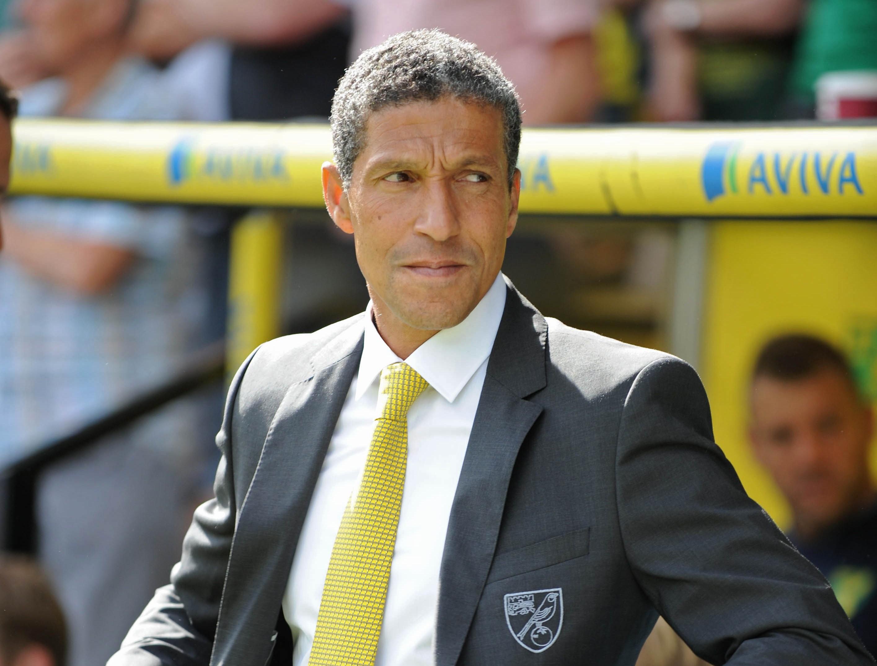 Norwich City's English manager Chris Hug