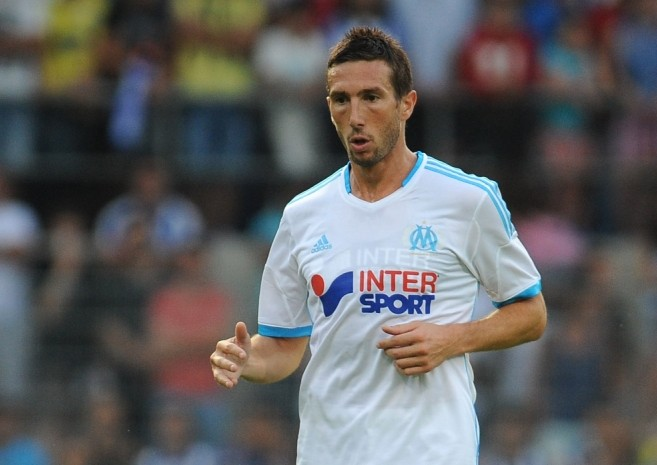 SION, SWITZERLAND - JULY 13:  Morgan Amalfitano of Olympique Marseille in action during the pre-season friendly match between FC Porto and Olympique Marseille at Estadio Tourbillon on July 13, 2013 in Sion, Switzerland.  (Photo by Valerio Pennicino/Getty Images)
