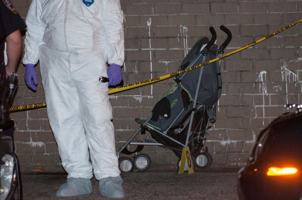 One-year-old boy shot dead while father walked him in his pram