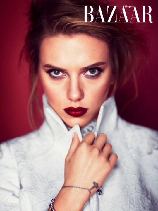 """Scarlett Johansson_photographed by Alexi Lubomirski_Bazaar OCT 2013 [ONLINE USE ONLY] #2.jpg ¿You shall not feature images or quotes before: 00:01, Tuesday 3rd September 2013* ¿On every inside page of the Licensed Edition upon which you reproduce the Pictures you shall: ¿Credit the photographer as Alexi Lubomieski, and the Pictures as courtesy of Harper's Bazaar; ¿Include a credit to Harper's Bazaar in the first or second paragraph of the main article ¿Include a colour cover credit no smaller than 4cm x 5cm for Harper's Bazaar magazine; ¿State that the """"Full interview appears in the October issue of HARPER'S BAZAAR, on sale 5th September. Also available as a digital edition."""" ¿Include a credit to 'Carine Roitfeld linked, without the rel=""""nofollow"""" attribute, to http://www.harpersbazaar.co.uk/latest-news/october-issue-scarlett-johansson ¿If used online, you must include a link to Harper's Bazaar online - http://www.harpersbazaar.co.uk - without the rel=""""nofollow"""" attribute ¿If used online, you must run the BRANDED images"""