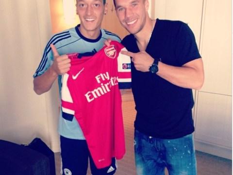 Lukas Podolski welcomes 'new Gunner bro' Mesut Ozil to Arsenal